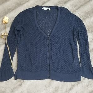 EUC H&M Pointelle V-Neck Cardigan